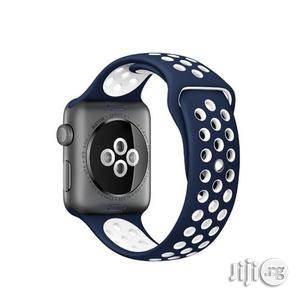 Apple Watch Band 42mm, Soft Silicone Replacement Sports Ban | Smart Watches & Trackers for sale in Lagos State, Ikeja