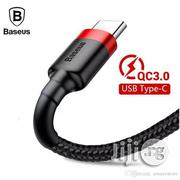 Baseus Kevlar 2m 2A Max USB-C / Type-c Data Sync Charge Cable | Accessories & Supplies for Electronics for sale in Lagos State, Ikeja
