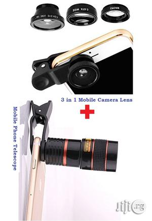 Camera Phone Len 3 In 1 + Mobile Phone Telescope Camera   Accessories for Mobile Phones & Tablets for sale in Lagos State, Ikeja