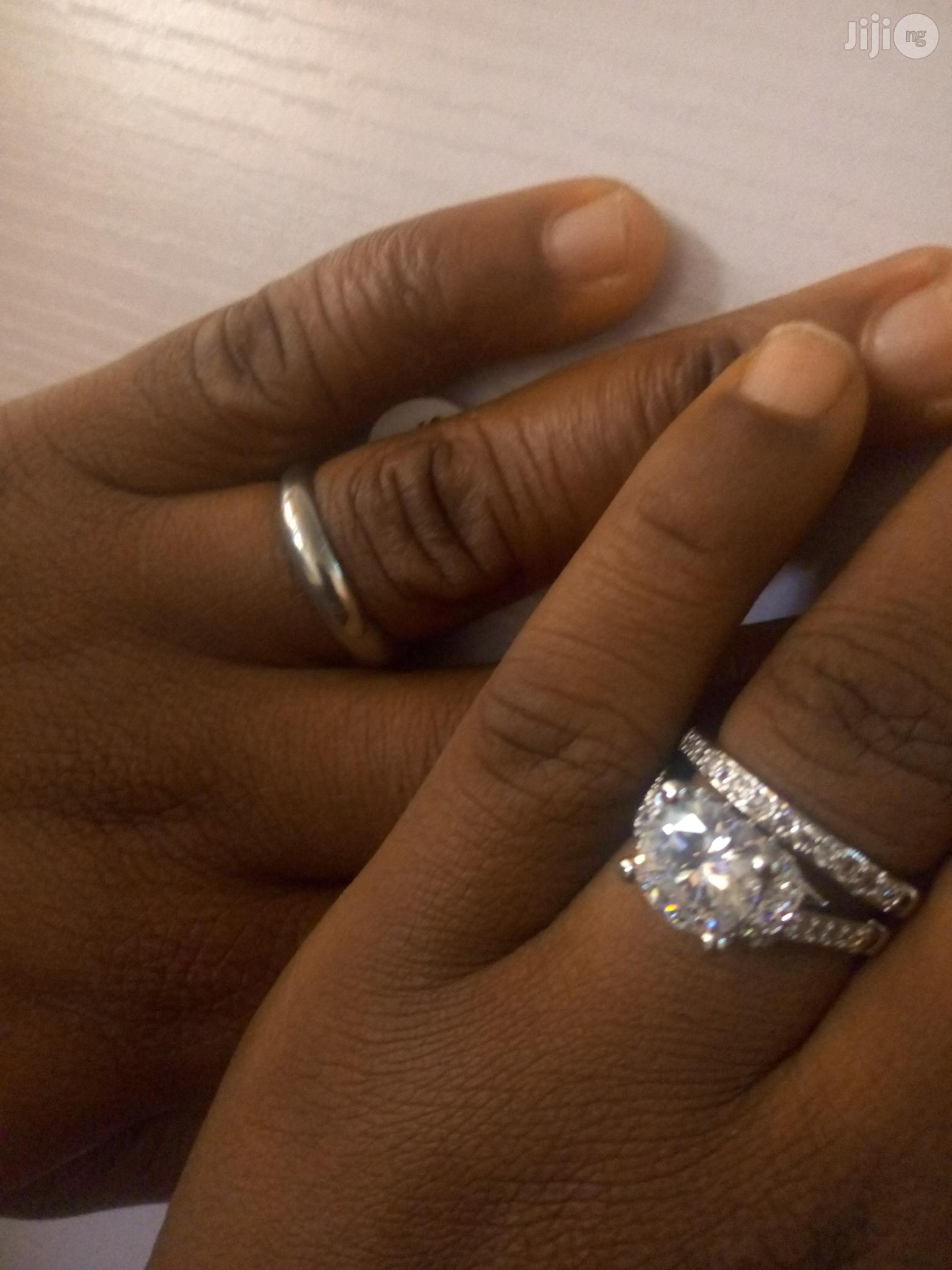 Silver Plated Wedding Ring Set