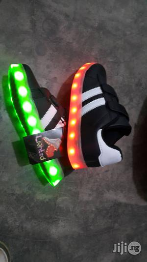 Black Led Canvas Sneakers for Kids | Children's Shoes for sale in Lagos State, Lagos Island (Eko)