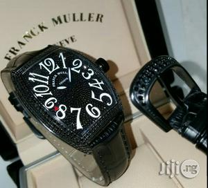 Franck Muller Full Ice Black Body/Leather Strap Watch   Watches for sale in Lagos State, Lagos Island (Eko)