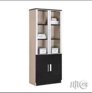 Wooden and Glass Book Shelf | Furniture for sale in Lagos State, Ojo