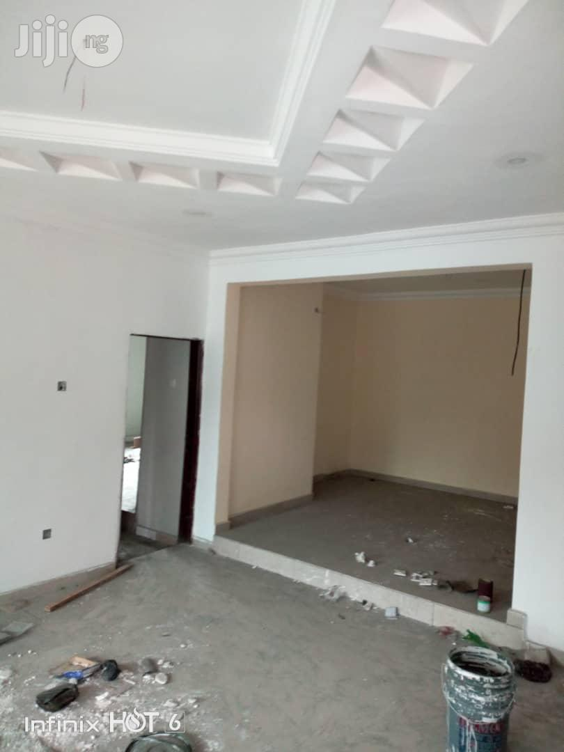 Brand New 3bedroom Bungalow With Federal Light With Ample Parking Space With Pop Ceilling At Peter Odili
