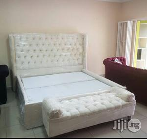 King's Size Padded Bed Frames With Bedside Drawers and Ottoman.   Furniture for sale in Lagos State