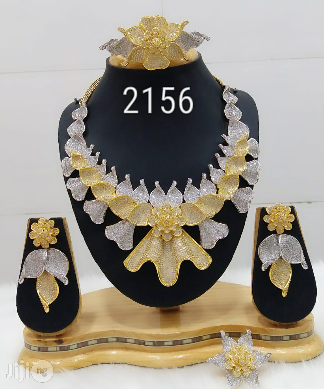 Plated Cubic Zirconia Necklace Earrings India