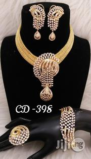 Plated Cubic Zirconia Necklace Earrings India Silver | Jewelry for sale in Lagos State, Lagos Island