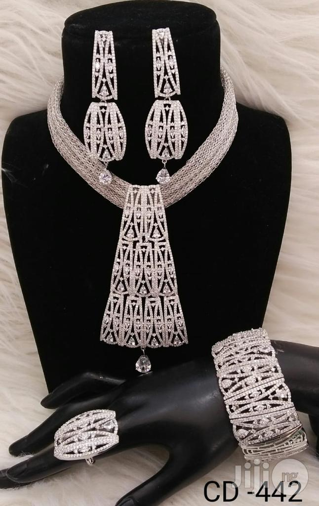 Plated Cubic Zirconia Necklace Earrings India | Jewelry for sale in Lagos Island (Eko), Lagos State, Nigeria