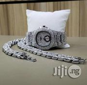 Ice Silver Partek Watch With Chain   Watches for sale in Lagos State, Surulere