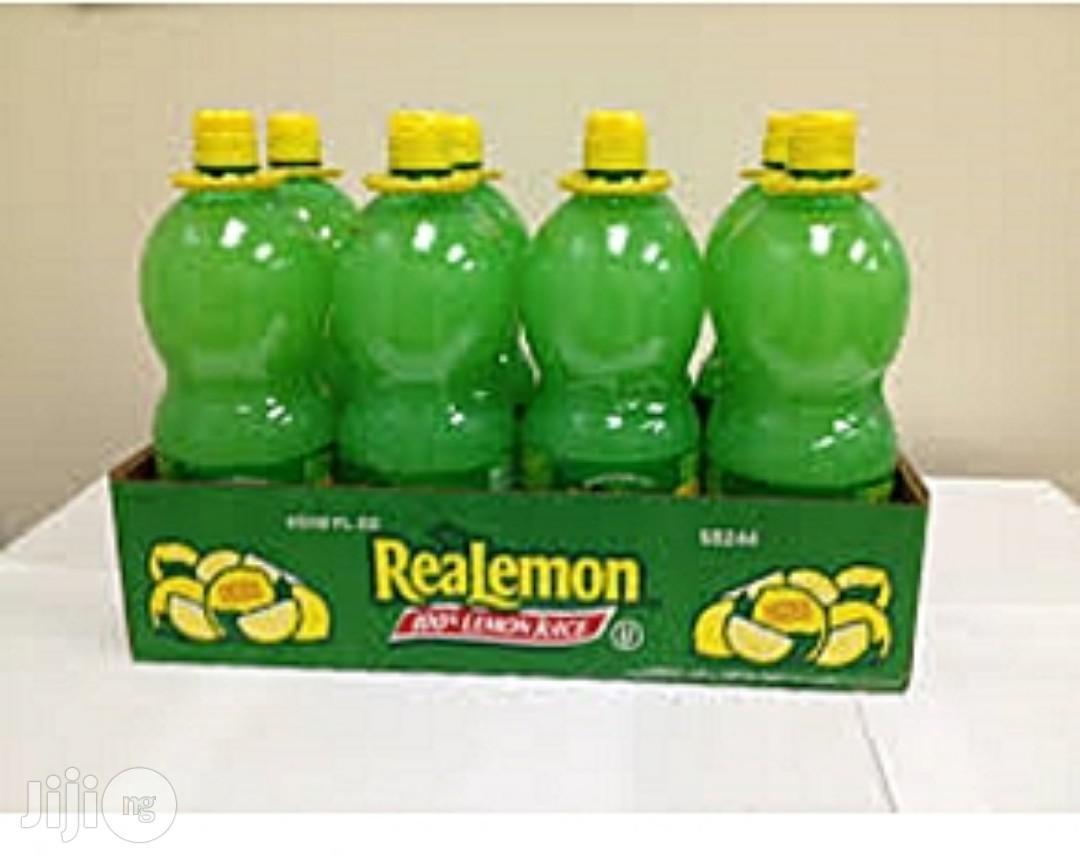 1 Bottle Of Real Lemon Juice