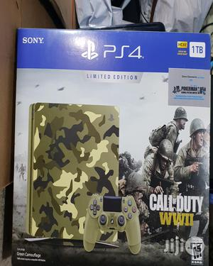 Ps4 Slim 1tb Limited Edition Customized Army Colour | Video Game Consoles for sale in Lagos State, Ikeja