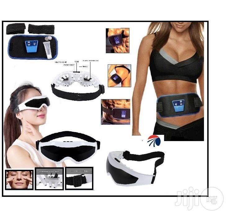 Abs Fitness Belt With Eye Wear Massager