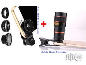 Camera Lens + Mobile Telescope & Selfie Ring Light Combo Pack | Accessories for Mobile Phones & Tablets for sale in Lagos State, Ikeja