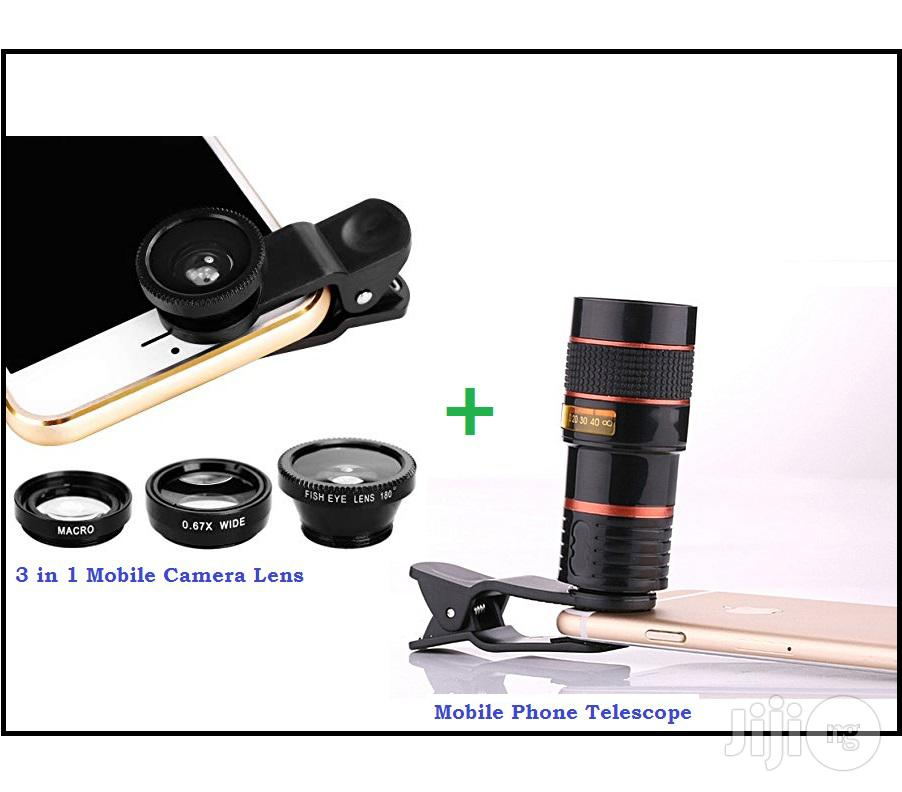 Mobile Phone Telescope + Camera Lens 3-in-1 & Selfie Light   Accessories for Mobile Phones & Tablets for sale in Ikeja, Lagos State, Nigeria
