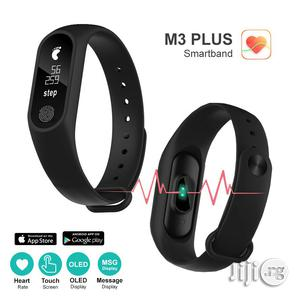 M3 Smart Bracelet Fitness Tracker Heart Rate Monitor Waterproof Bracelet Band | Smart Watches & Trackers for sale in Lagos State, Ikeja