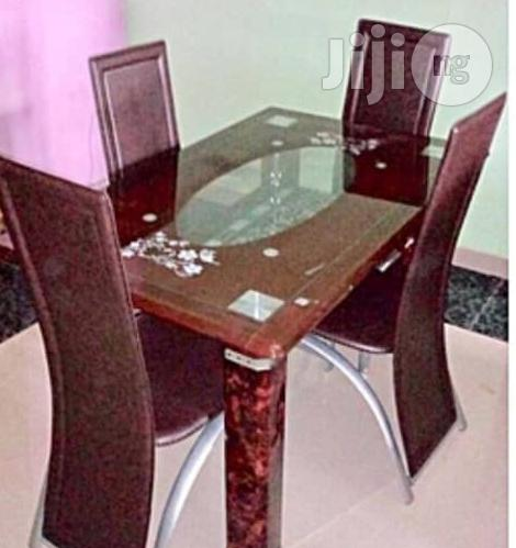 A Brand New 4 Seater Glass Dining Table Set In Ilupeju Furniture Stanley Goodwin Jiji Ng