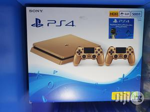 Ps4 Slim Gold Limited Edition + Extra Controller | Video Game Consoles for sale in Lagos State, Ikeja