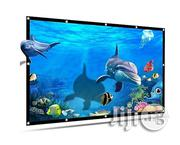 Owlenz Simple Foldable Projector Screen   TV & DVD Equipment for sale in Lagos State, Ikeja