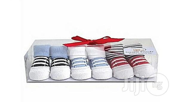 Luvable Friends Baby Boy Shoe Socks