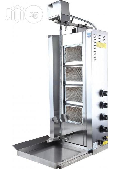 4 Burner Gas Sharwarma Grill Machine