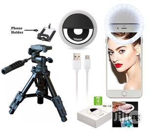 Mini Portable Stripod Camera Stand Plus Free Selfie Ring Light | Accessories & Supplies for Electronics for sale in Lagos State, Ikeja