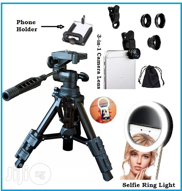 Portable Stripod Stand With Free Telescope and Selfie Light