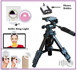 Tripod Stand + Free Mobile Telescope and Selfie Ring Light | Accessories & Supplies for Electronics for sale in Lagos State, Ikeja