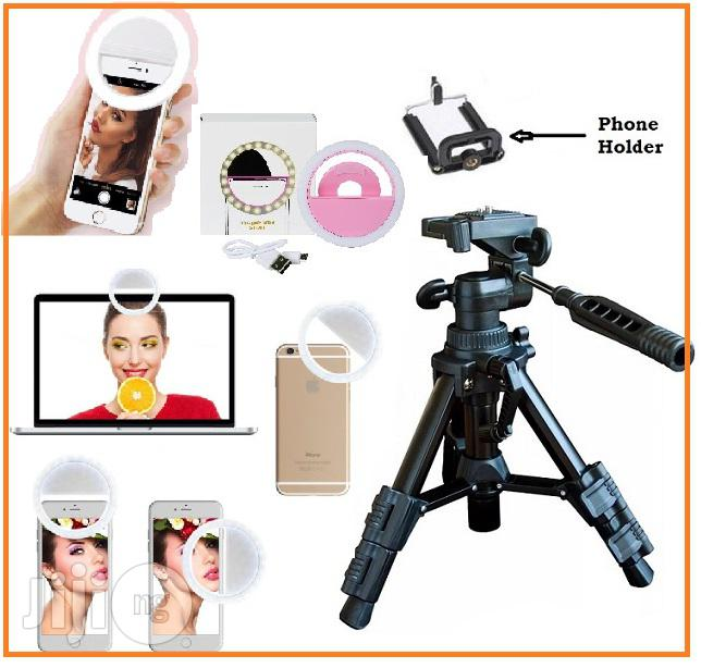 Selfie Ring Light With Mini Portable Tripod Camera / Video Stand