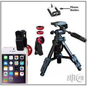 Universal Tripod Stand + Free 3-In 1 Camera Lens | Accessories & Supplies for Electronics for sale in Lagos State, Ikeja