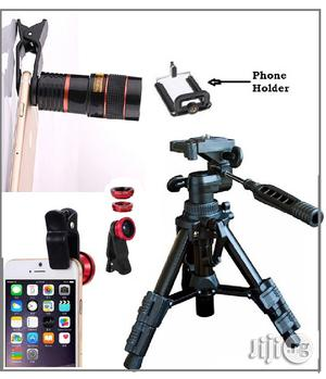 Mini Tripod Stand + Free Telescope and 3 in 1 Selfie Ring Light | Accessories & Supplies for Electronics for sale in Lagos State, Ikeja