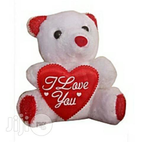 Generic Teddy Bear Valentine Gift I Love U White And Red