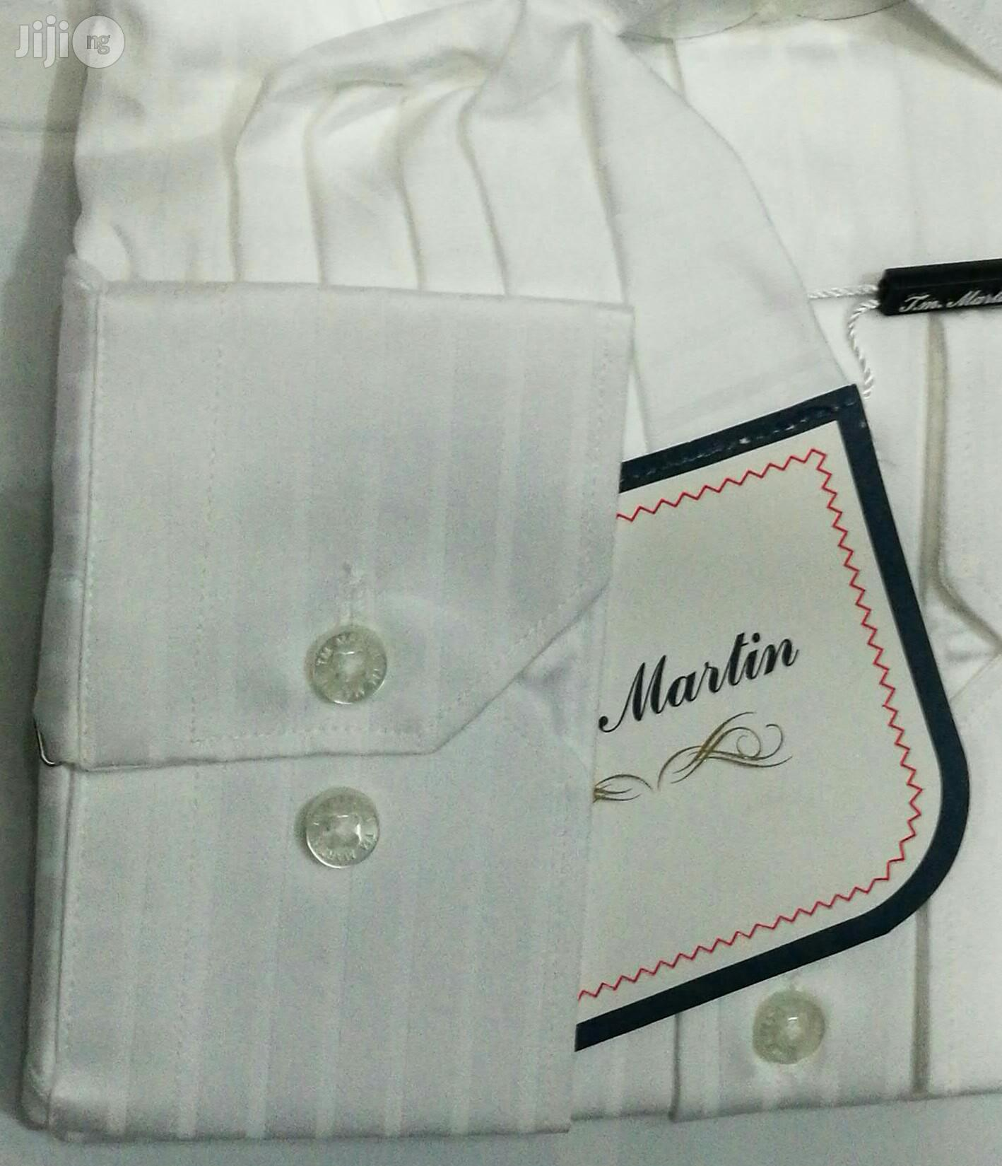 100% Pure White Shirt With Line by TM Martin