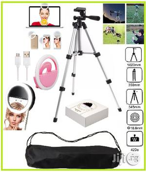 Camera Tripod Stand + Selfie Ring Light | Accessories & Supplies for Electronics for sale in Lagos State, Ikeja