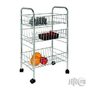 3 Tier Kitchen Storage Cart - Stainless Steel   Furniture for sale in Lagos State, Lagos Island (Eko)