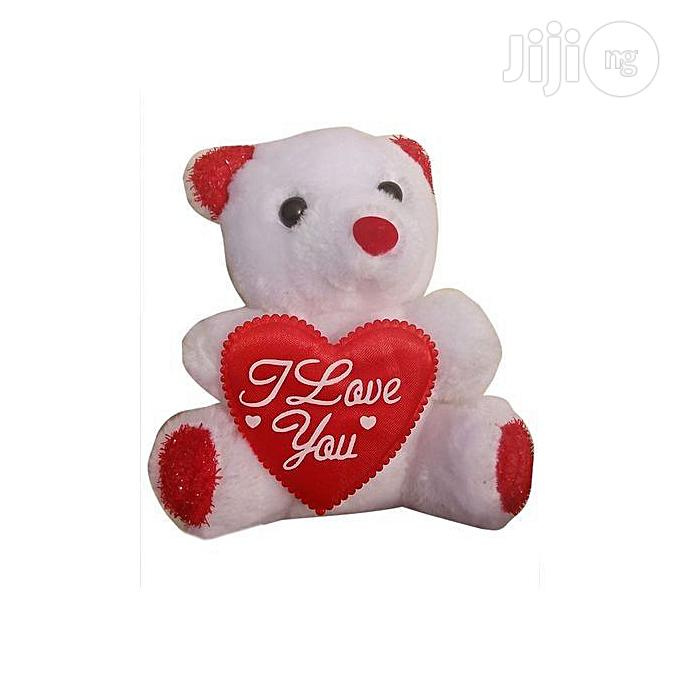 Teddy Bear Valentine Gift I Love You( White and Red)