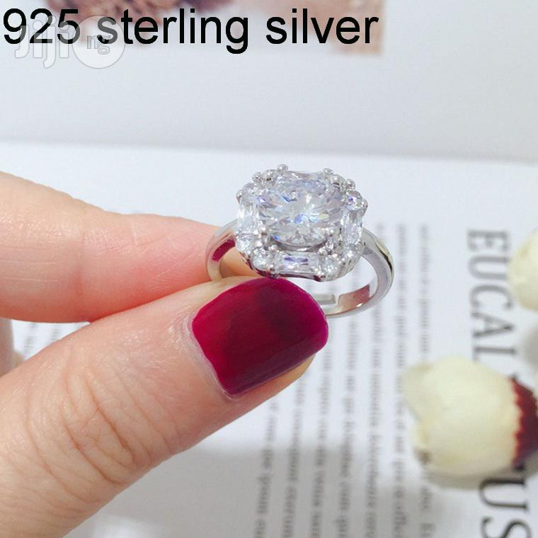 925 Sterling Silver Engagement Ring With Zircon Stones | Wedding Wear & Accessories for sale in Ojodu, Lagos State, Nigeria