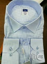 Skyblue Designed Shirt by Bardu 100% Cotton | Clothing for sale in Lagos State, Lagos Island