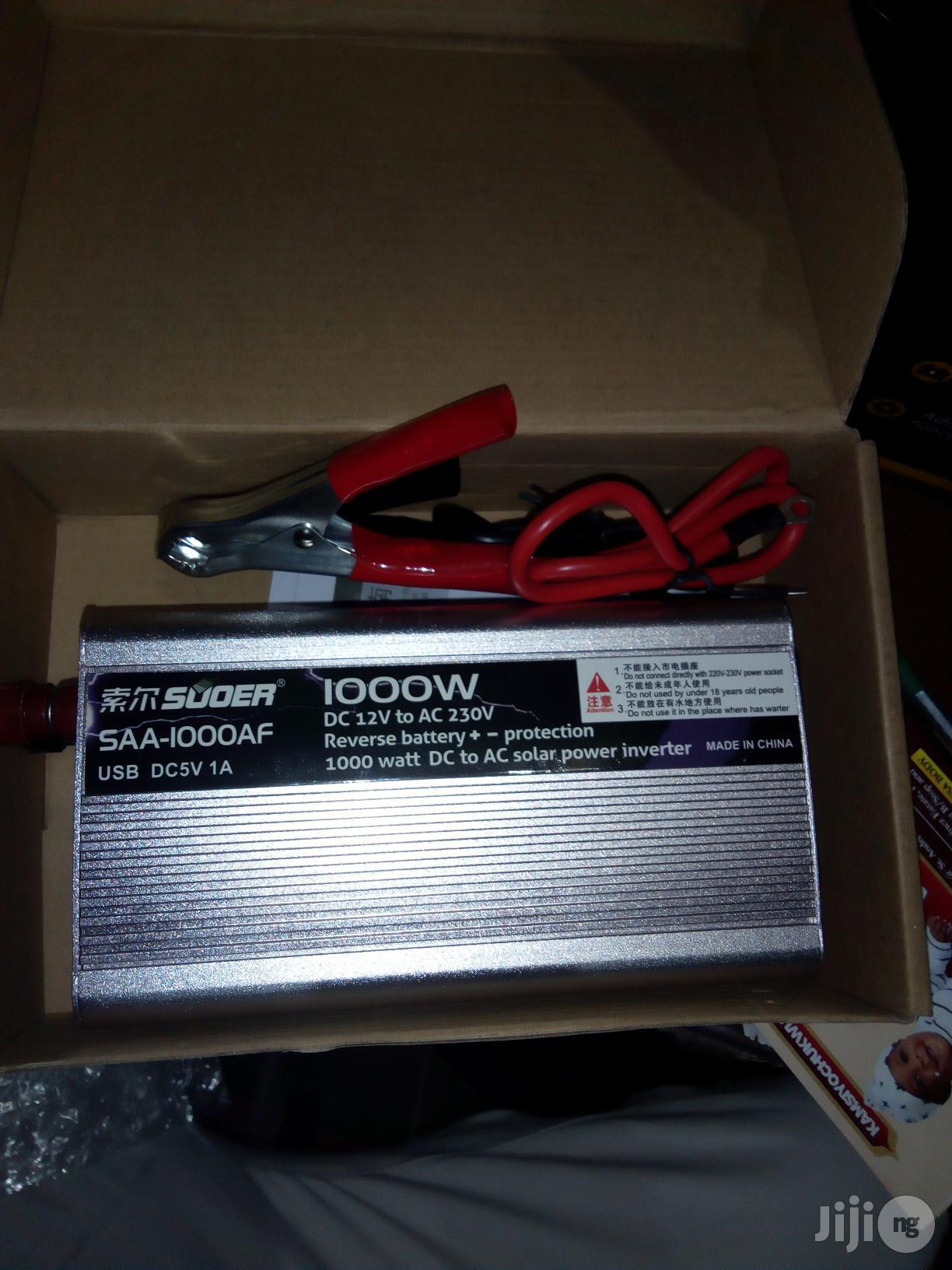 1000 Watt Souer Inverter Available