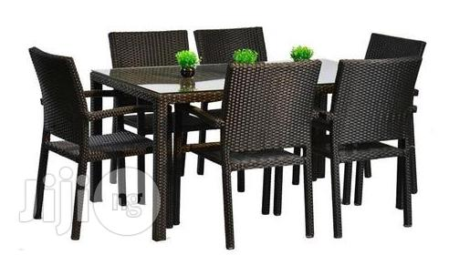 New Best Rattan Qualiy Cane Dining Table With Six Chairs,For in Out Door