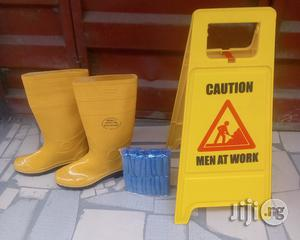 Safety Rainboot & Caution Sign & Shoe Cover   Safetywear & Equipment for sale in Lagos State, Ajah
