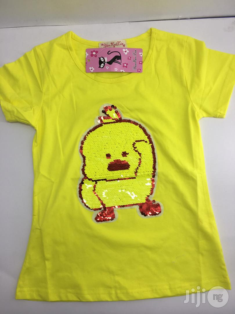 Classy Yellow Girl Top With Shimmer | Children's Clothing for sale in Lagos State, Nigeria