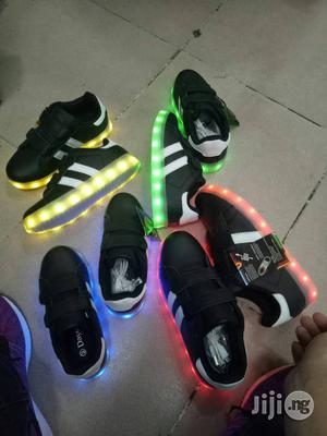 Black LED Canvas Sneakers for Boys and Girls | Children's Shoes for sale in Lagos State, Lagos Island (Eko)