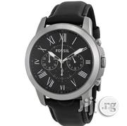 FOSSIL Grant Chronograph Black Leather Men's Watch | Watches for sale in Lagos State, Ifako-Ijaiye