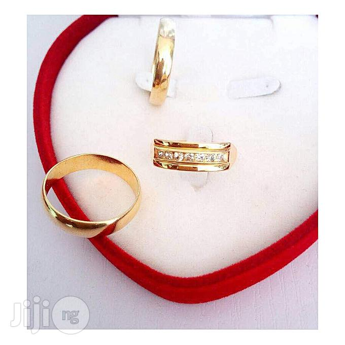 Romania Gold Romanian Gold Engagement And Wedding Ring 007 - Gold