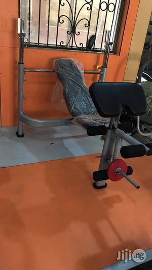 Brand New Weight Bench With 100kg Weight | Sports Equipment for sale in Lagos State, Badagry