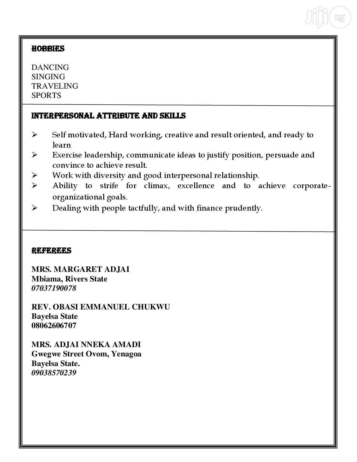 IT CV | Computing & IT CVs for sale in Yenagoa, Bayelsa State, Nigeria