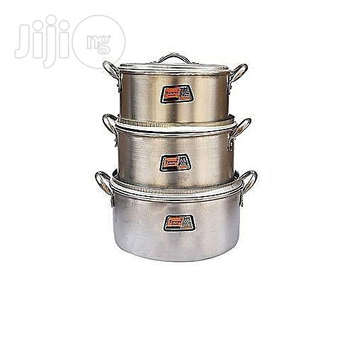 Tower Set of Cooking Pots - 3 Pieces