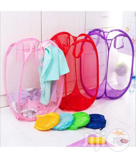 Pop Mesh Foldable Laundry Basket