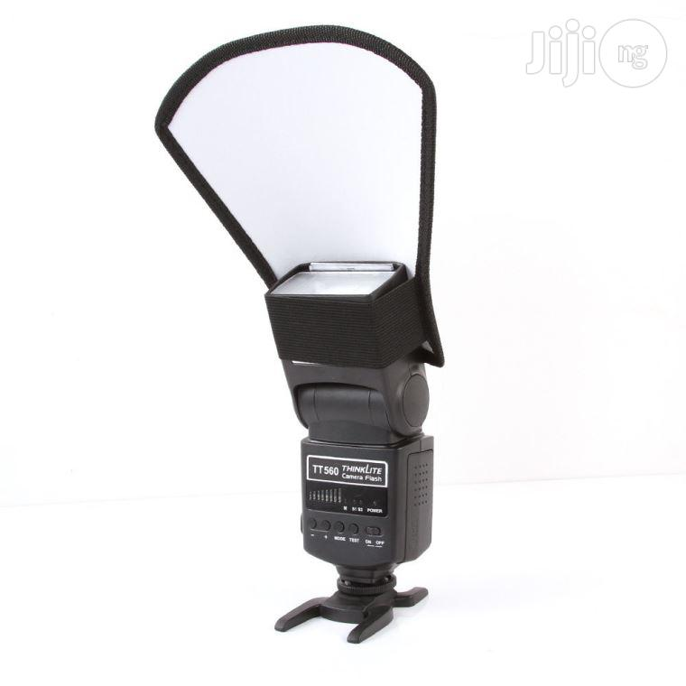 Flash Diffuser Softbox Silver/White Reflector For Camera Flash   Accessories & Supplies for Electronics for sale in Ikeja, Lagos State, Nigeria