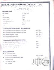 Accountant | Accounting & Finance CVs for sale in Ogun State, Obafemi-Owode